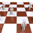 Businessmen as pawns on chessboard — Stock Photo