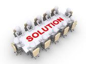 Möte av affärsmän för lösningen — Stockfoto