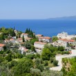 Panorama of montenegro coast line — Stock Photo
