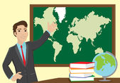 Geography teacher — Stock Vector