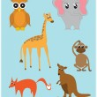 Stock Vector: Cute animals collection