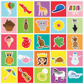Kids memory game — Stock Vector