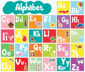 Kids alphabet — Stock Vector