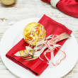 Christmas place Setting. — Stock Photo #42697309