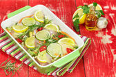 Chicken with rosemary and lemon — Stock Photo