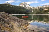 Lake morning reflections — Stock fotografie