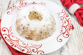 Christmas cake with raisins — Stock Photo