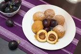 Sweet plum dumplings. — Stock Photo