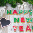 Happy New Year from Ginger Cookies — Stock Photo #42706849