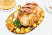 Juicy Roast Turkey — Stock Photo