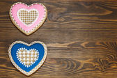 Heart Shaped Gingerbread Cookies — Stock Photo