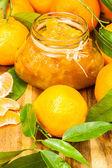 Orange mandarin homemade jam — Stock Photo