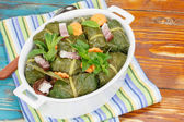 Stuffed Collard Greens — 图库照片