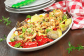 Chicken and vegetable Stir Fry — Stock Photo