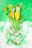 Healthy vegetables in a glass. Diet concept — Stock Photo