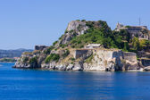 Old Byzantine fortress of Corfu town, Greece — Stock Photo