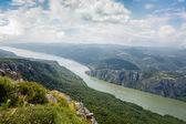 Danube river at Iron Gate gorge — Stock Photo