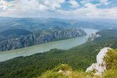 Danube gorge  Iron Gate — Stock Photo