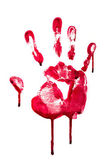 Horror blood hand print — Stock Photo