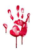 Horror blood hand print — Stock Photo