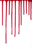 Paint or blood drips oozing — Stock Photo