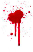 Blood drips — Stock Photo