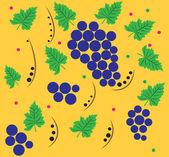 The pattern of grapes. — Stock Vector