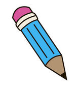 The pencil. — Vector de stock