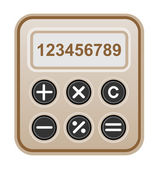 Brown calculator. — Stock Vector