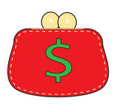 Simple red purse. — Stock Vector