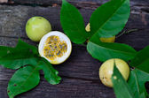 Fruit and slice of Passion fruit — Stock Photo