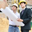 Two engineers are working — Stockfoto