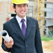 Engineer is working on a construction area — Stock Photo #14985291