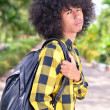 Asistudent with backpack at campus — Stock Photo #15679349
