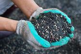Směs rostlinných chemická hnojiva — Stock fotografie
