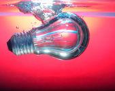 红光和深水下灯 — 图库照片