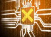 Lcd screen matrix circuit of cancel symbol — Stock Photo