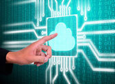 Lcd screen matrix circuit of cloud symbol — Stock Photo