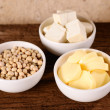 Fresh tofu and soybean product — Stock Photo #32597481