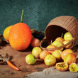 Fruit harvest still life — Stock Photo