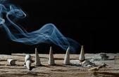 Frankincense burning still life — Zdjęcie stockowe
