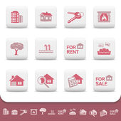 Professional real estate business vector icon set — Stock Vector