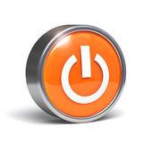 Power button - 3D icon — Stock Photo