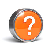 Question mark - 3D button — Stock Photo