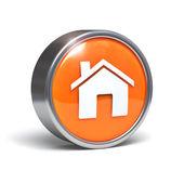 Home icon - 3D button — Stock Photo