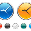 Vecteur: Clock icons 2