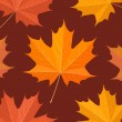 Autumnal maple leaves seamless pattern - Stock Vector
