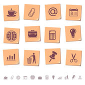 Web icons on memo notes 2 — Stock Vector