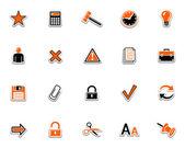 Web icon set. Black orange series 2 — Stock Vector