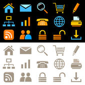 Web icons, pictograms — Stock Vector